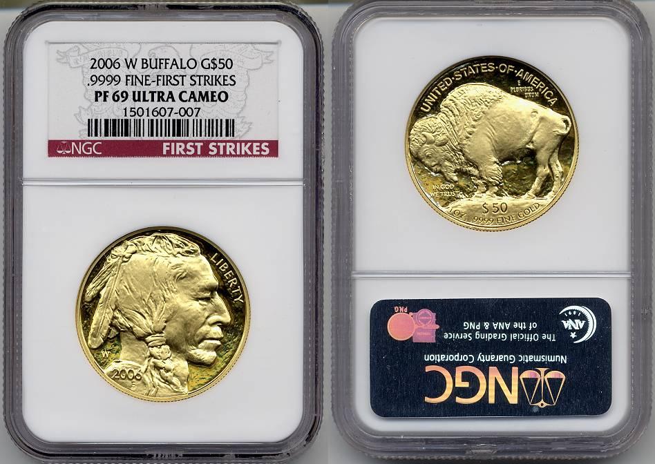 2006 W 50 Proof Gold Buffalo Coin 9999 Ngc Certified