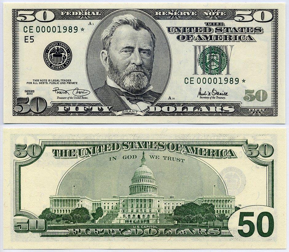 "Bill Of Sale Wa >> 2001 $50 Federal Reserve Star Notes ""Richmond"" Single Star ..."